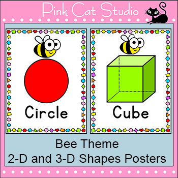 Shapes Posters - Bee Theme