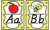 Bee Theme Alphabet Letter Line