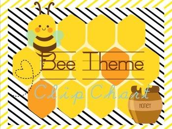 Bee Theme BEEhavior Clip Chart