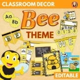 Bee Theme Back to School Decor, Activities, Gifts - Editable