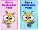 Bee Theme Bathroom and Hall Passes