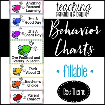 Behavior Clip Chart: Bee Theme {editable version included}