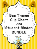 Bee Theme Class Rules, Clip Chart, and Planner  BUNDLE