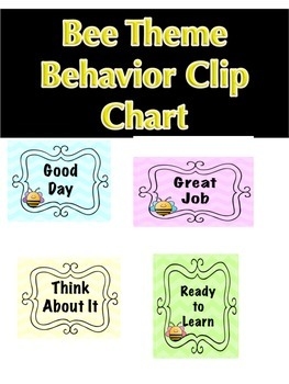 Bee Theme Behavior Clip Chart!!! EDITABLE!!!
