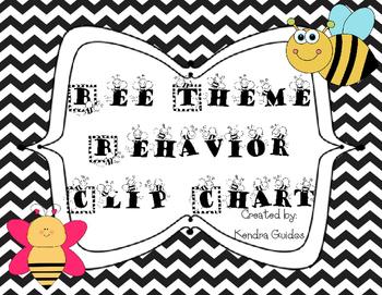 Bee Theme Behavior Clip Chart