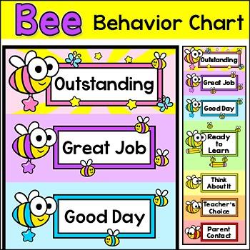 Behavior Chart - Bee Theme Classroom Decor