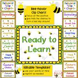 Behavior Clip Charts {Editable} Bee Theme