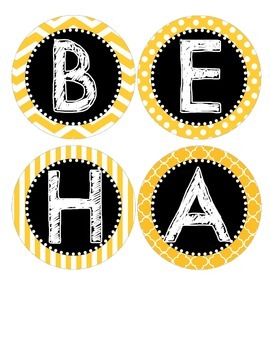 "Bee Theme ""Behavior Worth Buzzing About"" Bulletin Board Title"