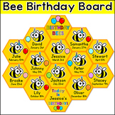 Birthday Board - Bee Theme Classroom Decor