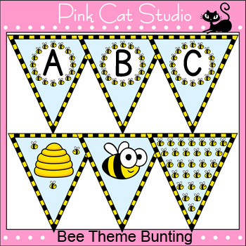 Bee Theme Bunting Banners