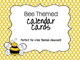 Bee Theme Calendar Cards
