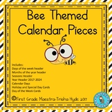 Bee Theme Calendar Numbers, Months, Days, Seasons