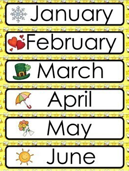 Bee Theme Calendar and Class Schedule Editable