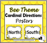 Bee Theme Classroom Decor Cardinal Directions Signs