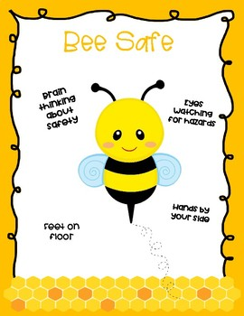 Bee Theme Character Trait Posters