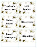 Bee Theme Class Jobs Cards
