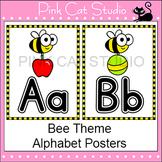 Bee Theme Alphabet Posters - Editable Classroom Decor