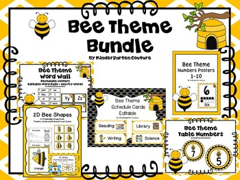 Bee Theme Classroom Bundle