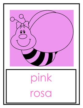Bee Theme - Classroom Color Cards