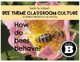 Bee Theme Classroom Culture Slides & Reflection page
