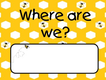 Bee Theme Classroom Decor