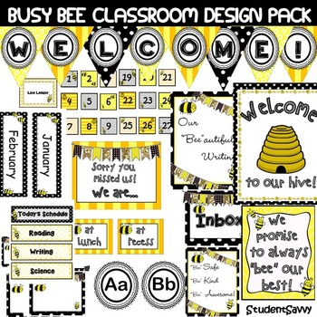Bee Classroom Decor Editable