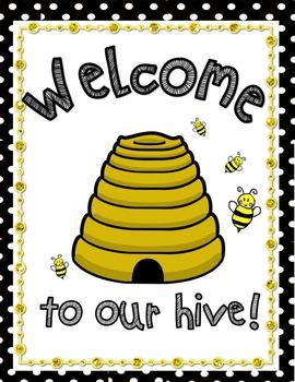 Bee Classroom Decor (Editable)