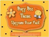 Bee Theme Classroom Decor Set