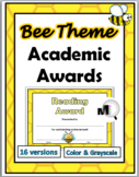 Bee Theme Classroom - End of the Year Academic Awards