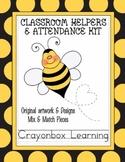 Bee Classroom Helpers & Attendance Kit