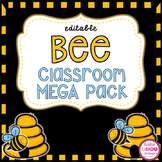 Bee Theme Classroom Decor (editable)