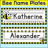 Bee Theme Name Plates - Editable