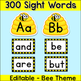 Bee Theme Classroom Word Wall Letters & Cards