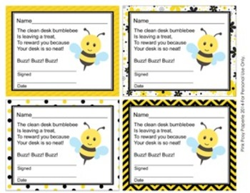 Bee Theme Clean Desk Awards