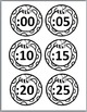 Bee Theme Classroom Decor Telling Time Clock Labels