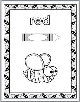 Bee Theme Classroom Decor - Color Word Posters