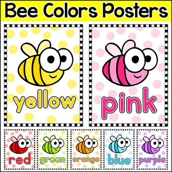 Bee Theme Colors Posters