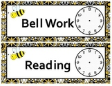 Bee Theme Daily Schedule