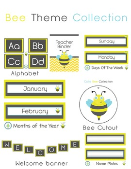 Bee Themed Decor Collection