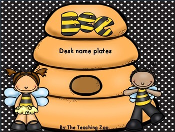Bee Theme Desk Name Plates
