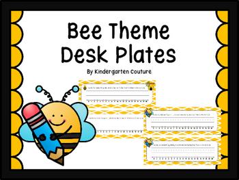 Bee Desk Plates