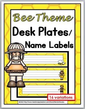Bee Theme Classroom Decor Desk Plates