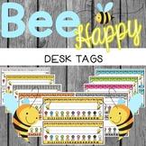 Bee Theme Desk Tags {Editable}