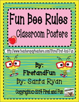 Bee Theme First Grade Behavior Poster Pack