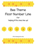 Bee Theme Floor Number Line for Lining Up