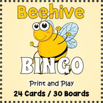 Bee Theme Game: Beehive Bingo