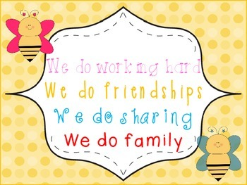 """""""In Our Classroom We Do"""" ... Poster Bee Theme"""