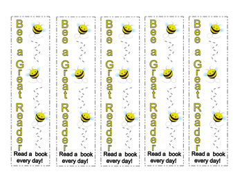 Bee Theme Library Book Due Date Sign + Cute Bee Bookmarks