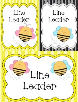 Bee Theme (Line Leader Tags)