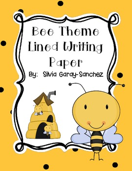 Bee Theme Lined Writing Paper